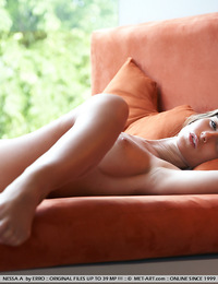 Large bulbous breasts adorn this super hot model with long luscious legs. - Nessa A - Exemparis