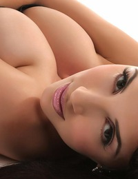 JelenaJensen-tightblackcorset
