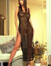 Linda Long black dress